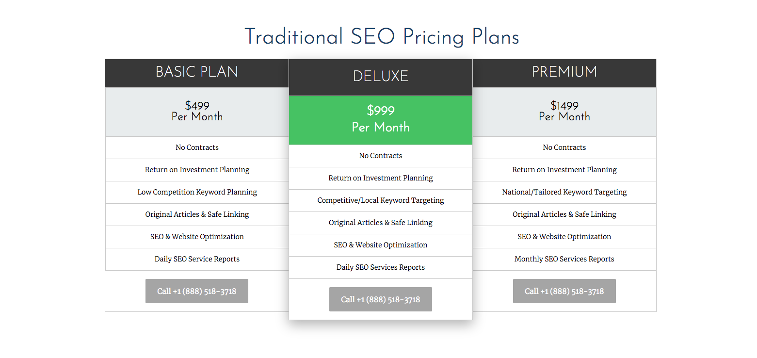 internet marketing pricing