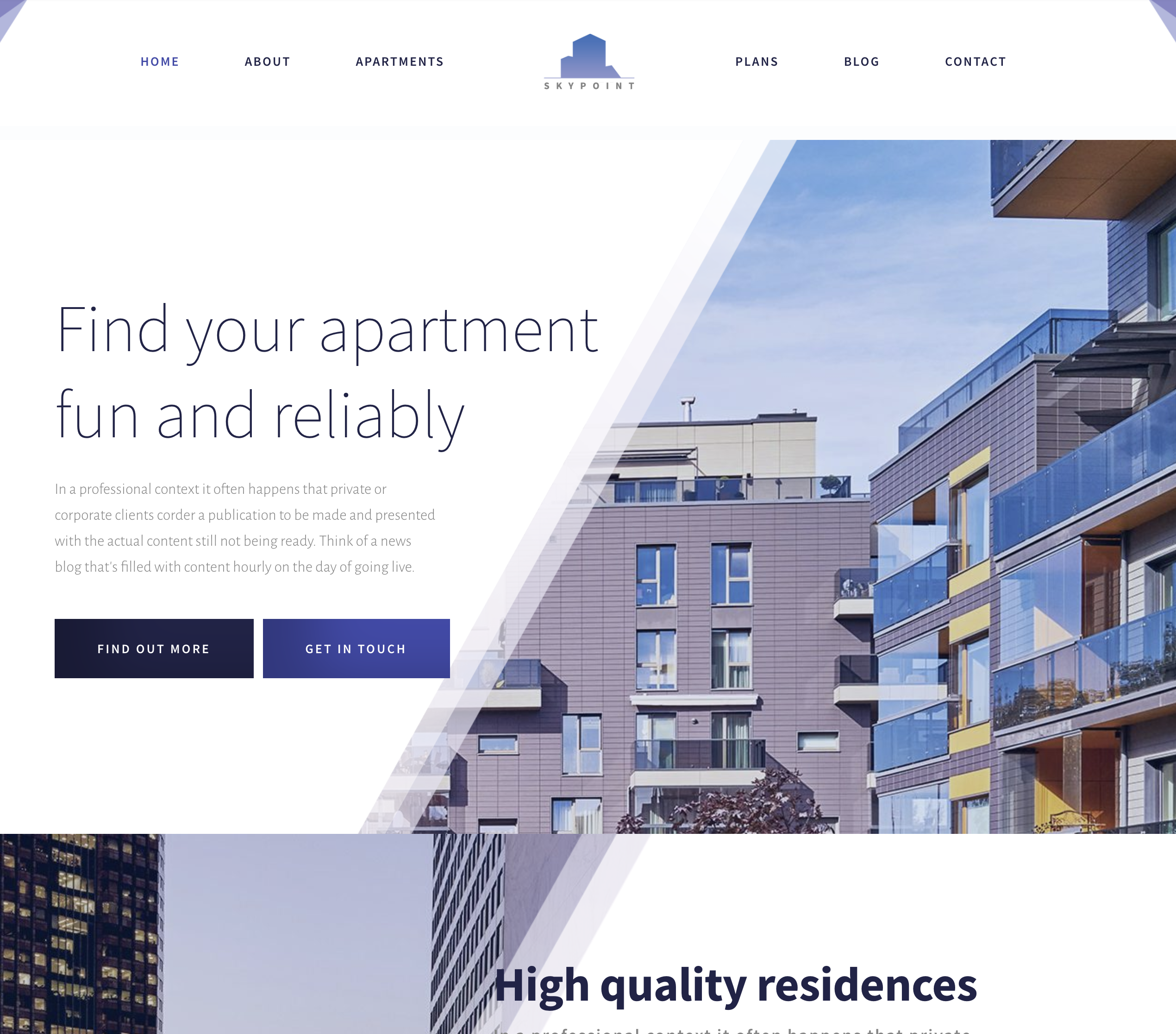 apartments website design