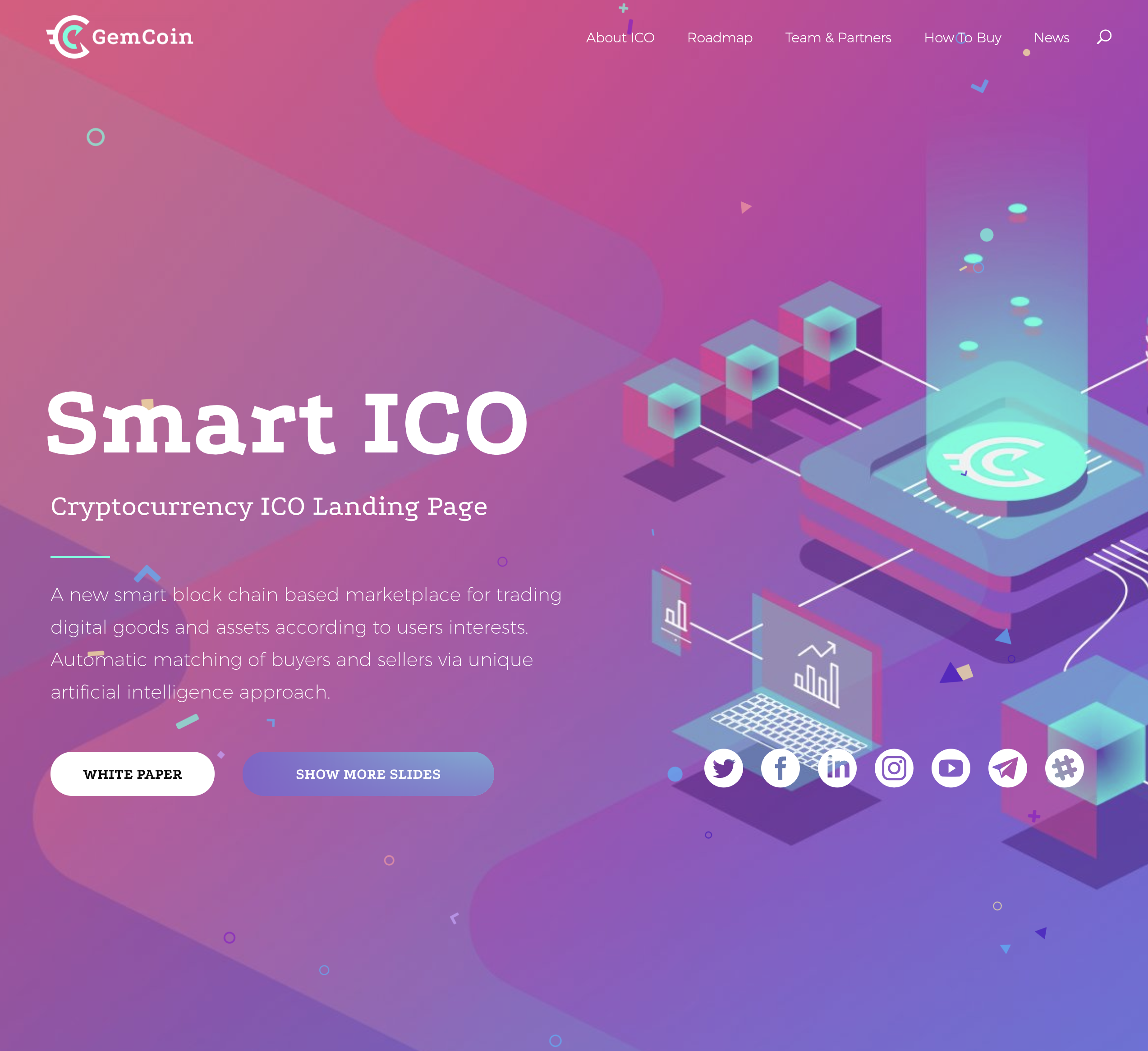 crypto website design