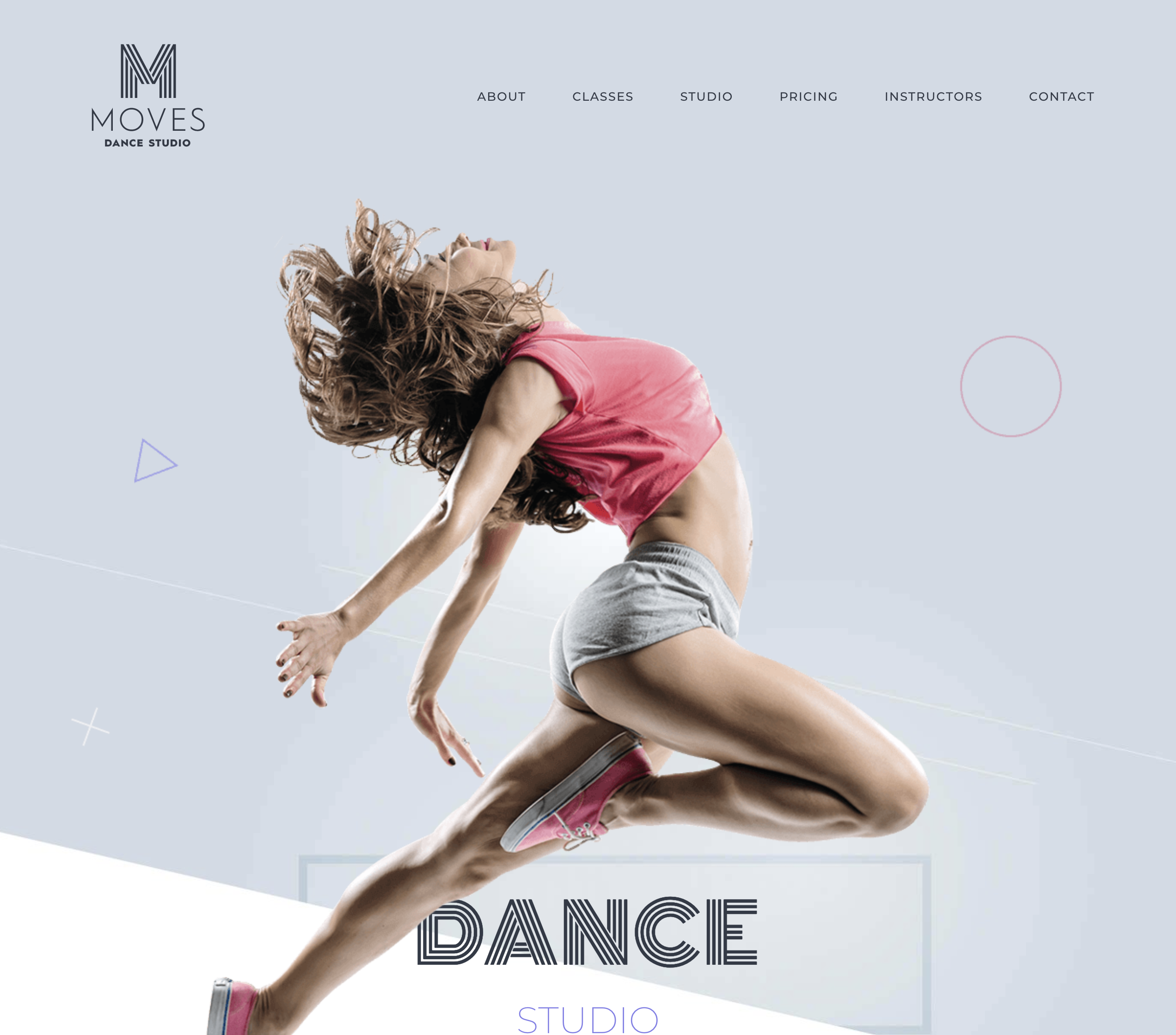 dance website design