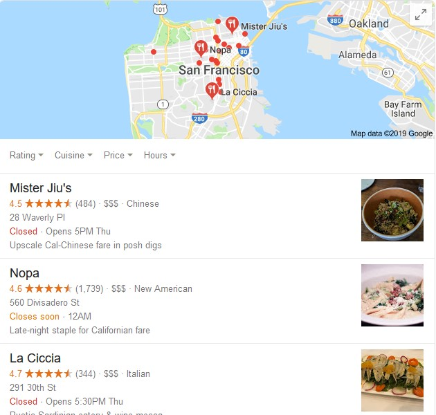San Francisco places to eat