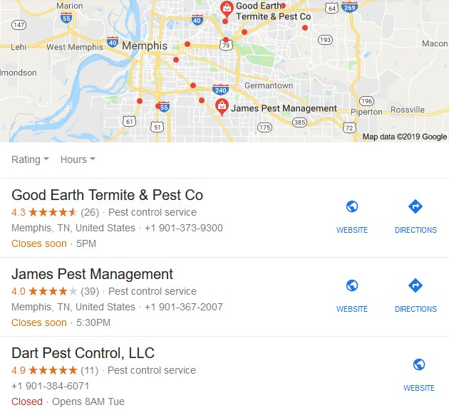 Memphis, Tennessee pest control