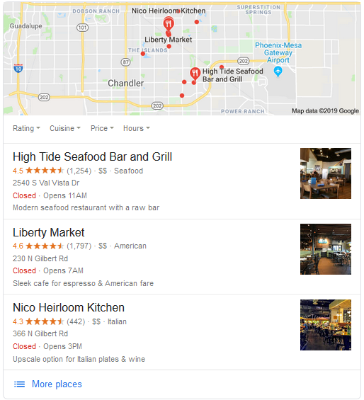 gilbert SEO restaurants