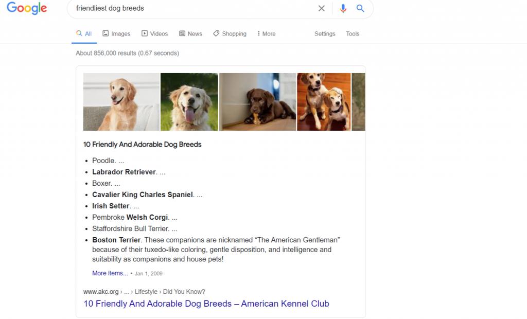 google featured