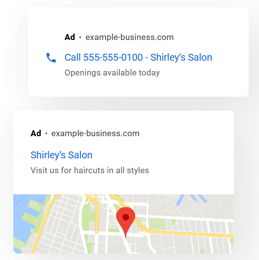 Google Ads examle